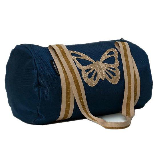 Sac week-end Papillon paillette Bleu - Caramel & Cie