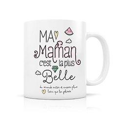 Mug céramique Ma maman c'est la plus belle