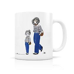 Mug céramique Mère et fille complices en jeans