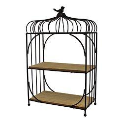 Etagère à poser Métal et bois Cage à oiseaux