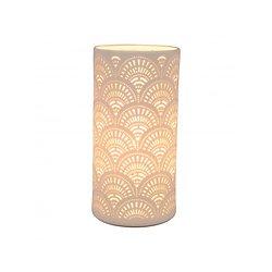 Lampe porcelaine blanche décorative ajourée à poser - Japan