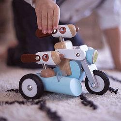 Jouet bébé Spirit le sidecar en bois de Philippe - Janod