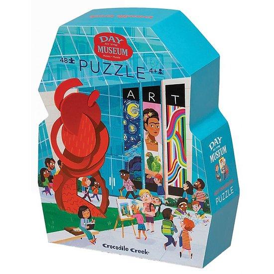 Puzzle 48 pièces - Une journée au musée d'Art moderne - 4/6 ans