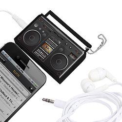 Diviseur audio et porte-clefs - Radio rétro vintage
