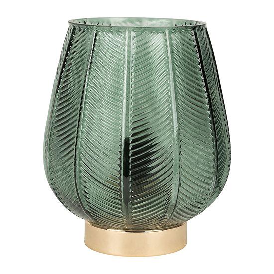 Lampe style vintage Feuillage Verte