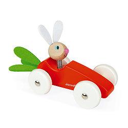 Jouet bébé - Voiture carotte en bois