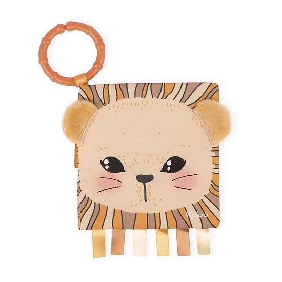 Livre tissu bébé - Le lionceau curieux