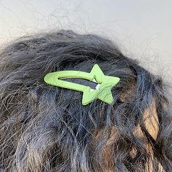 Grande barrette cheveux étoile - Kiwi