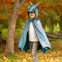 Déguisement enfant Cape de Dragon Starry night - 5/6 ans