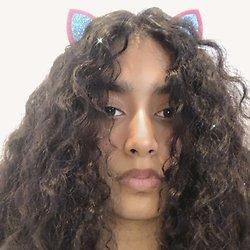 Barrette cheveux oreille petit chat - Bleu et rose