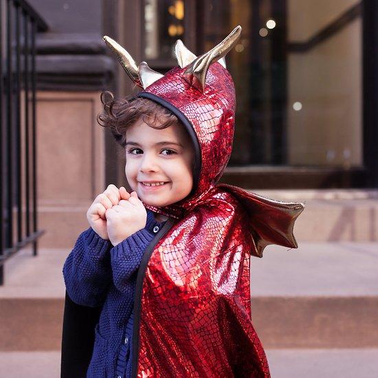 Cape deguisement enfant Dragon rouge - 3/4 ans