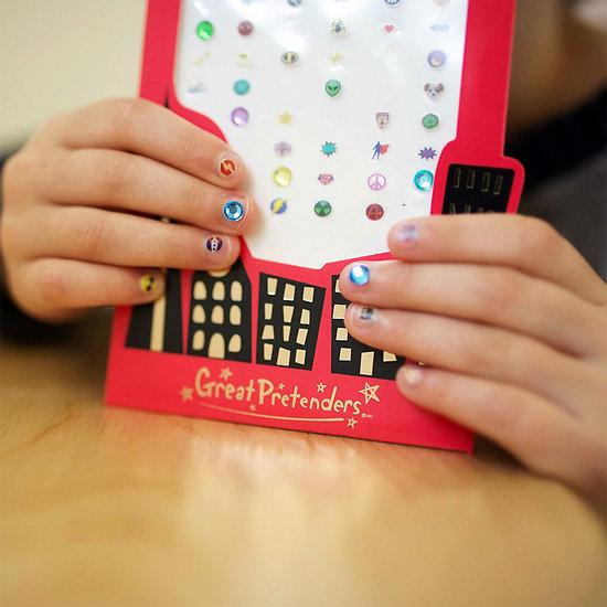Stickers ongles pour enfants - Superheros