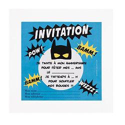 Cartes d'invitation - Super héros