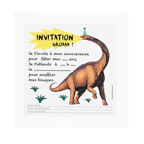 Cartes d'invitation - Dinosaure