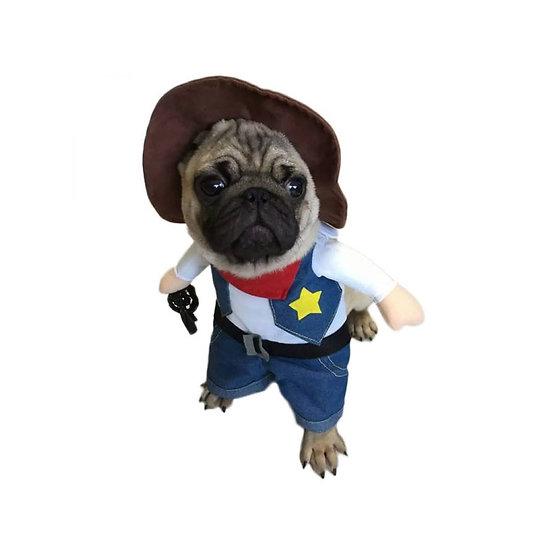 Déguisement chat ou petit chien - Cowboy Shérif