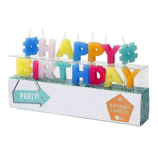 Bougie anniversaire #HAPPY BIRTHDAY#