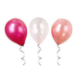 Ballons anniversaire Rose Mix - Lot de 12