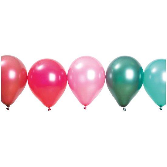 Ballons anniversaire Berry Pearl - Lot de 12