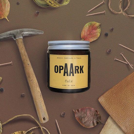 Bougie Artisanale Opaark - Cuir