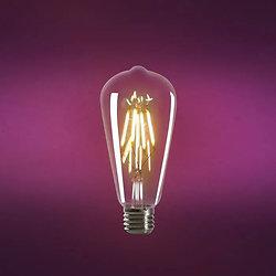 Ampoule led filament style Edison E27 4W - Goutte d'eau ambré