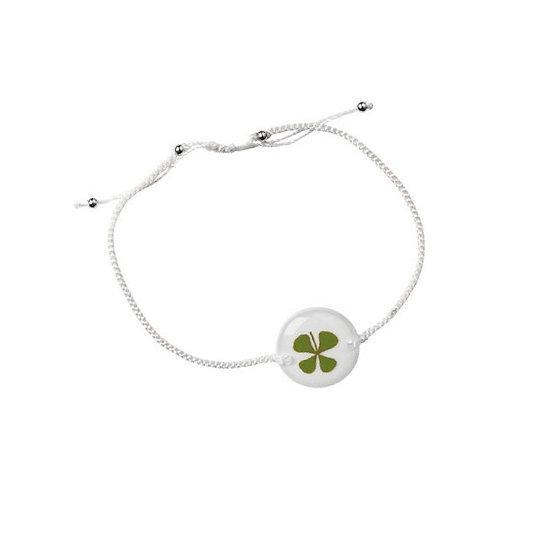 Bracelet porte bonheur tréfle 4 feuilles