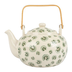 Théière céramique Essencia Vert et Blanc - 1,5L - SEMA Design