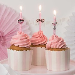 Bougie anniversaire rose Girl Party