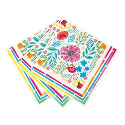 Serviette en papier Frida Fleur du Mexique - Lot de 20