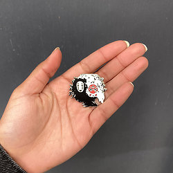 Pins original Yin Yang - Princesse Mononoke / Chihiro Sans visage