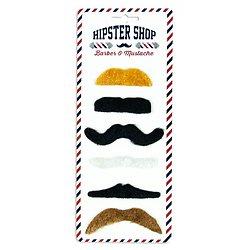 Lot de 6 moustaches adhésives