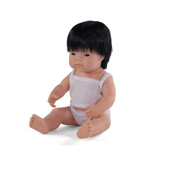Poupée Miniland -  Garçon Asiatique 38 cm