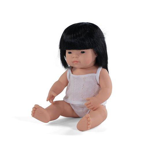 Poupée Miniland -  Fille Asiatique 38 cm
