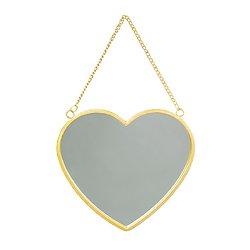 Miroir doré Coeur