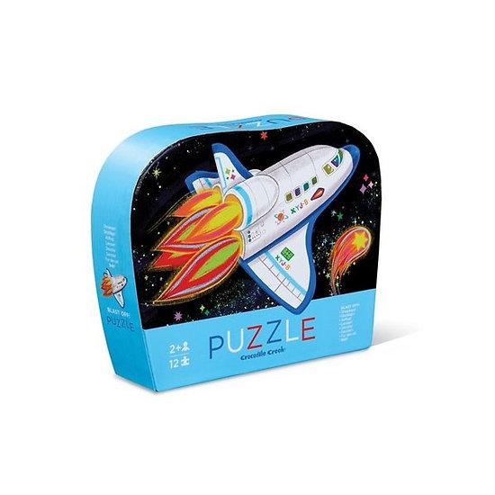 Mini Puzzle 12 pièces - Blast Off / Décollage de la fusée