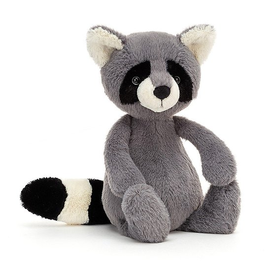 Peluche Jellycat Raton laveur – Bashful Raccoon - BAS3RAC 31 cm