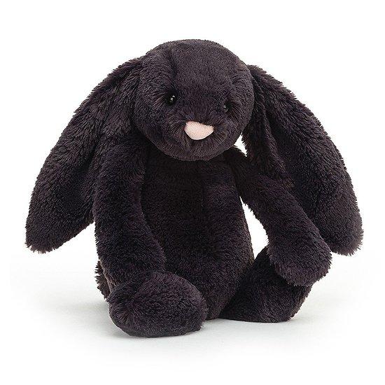 Peluche Jellycat bleu nuit – Bashful Inky bunny – Medium BAS3INK 31cm