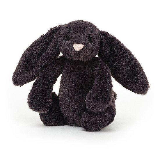 Peluche Jellycat bleu nuit – Bashful Inky bunny – Small BASS6INK 18cm