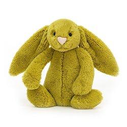 Peluche Jellycat vert pomme – Bashful Zingy Bunny – Small BASS6ZB 18cm
