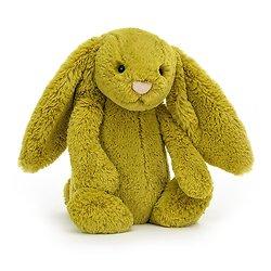 Peluche Jellycat vert pomme – Bashful Zingy bunny – Medium BAS3ZB 31cm