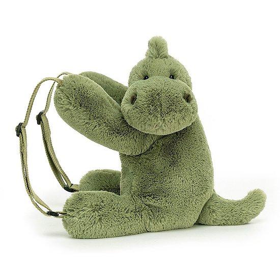 Sac à dos Peluche Jellycat Dino – Huggady Dino Backpack – HUG2DNBP 28cm