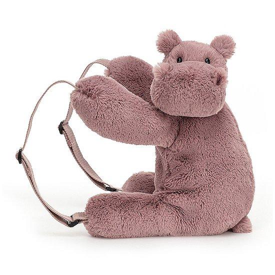 Sac à dos Peluche Jellycat Hippopotame – Huggady Hippo Backpack – HUG2HBP 28cm