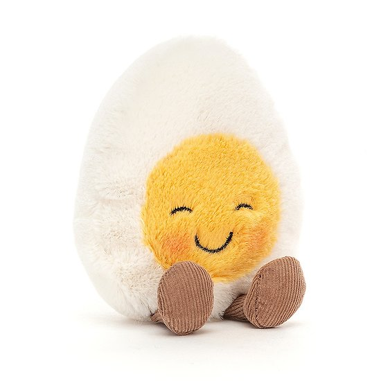 Peluche Jellycat Oeuf dur souriant – Amuseable Boiled Egg Blushing - BE6BLU 14 cm