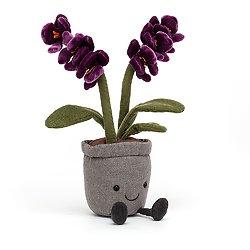 Peluche Jellycat Orchidée violette – Amuseable Purple Orchid - A2OR 29cm
