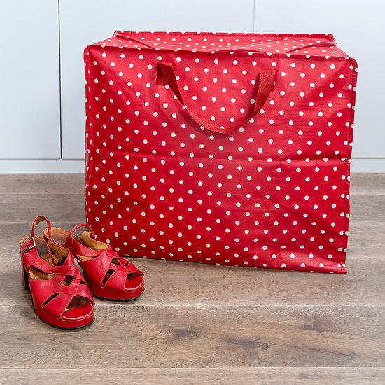 Jumbo bag Rex - Rouge à pois blanc