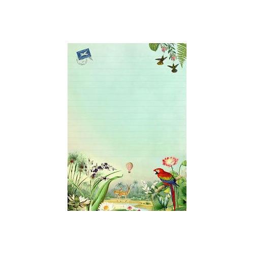Bloc note de 25 feuilles - Globe Trotter - Gwenaëlle Trolez