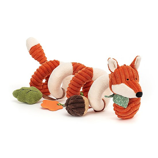 Jouet bébé Jellycat - Cordy Roy Renard Spiral - Cordy Roy Baby Fox Spiral Activity Toy - SRSAT4FX - 13 cm