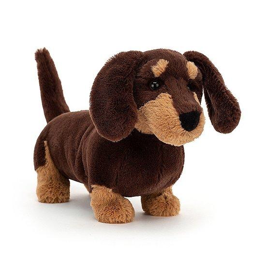 Peluche Jellycat chien saucisse Teckel Otto- Otto Sausage Dog - OT3SD 17 cm