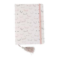 Petit cahier avec élastique et marque page pompon Boobies
