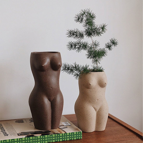 Vase corps femme BODY Doiy Petit - Blanc/Beige