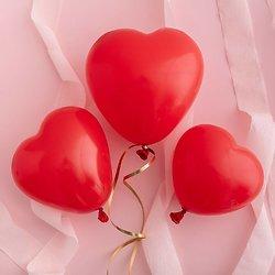 Ballon de baudruche Coeur Rouge - Lot de 12